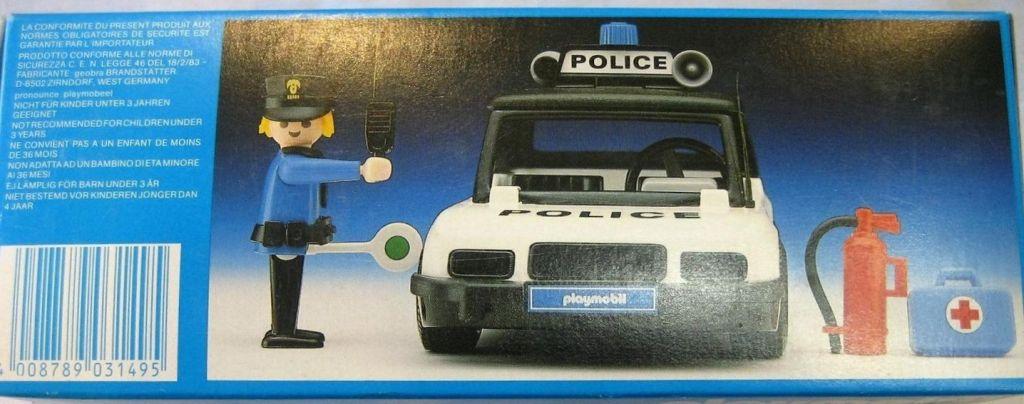 Playmobil 3149v1 - Police car - Back