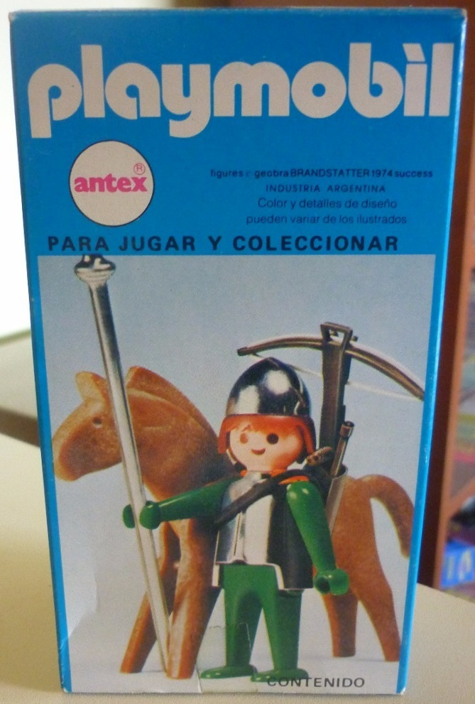 Playmobil 3333v1-ant - soldier and Horse - Box