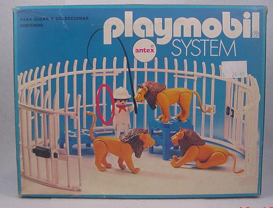 Playmobil 3517-ant - Lions, Cage and Trainer - Back