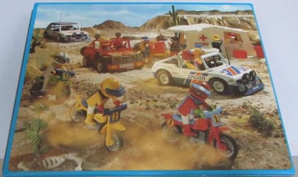 Playmobil 3753-esp - Blue Rally Car - Back
