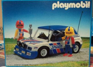 Playmobil - 3753-esp - Blue Rally Car