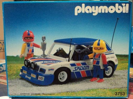 Playmobil Set: 3753-esp - Blue Rally Car - Klickypedia