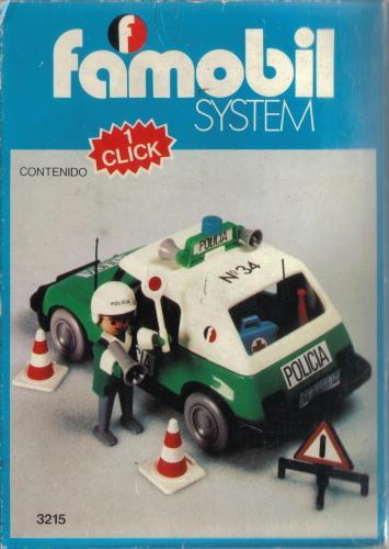 Playmobil 3215-fam - Police car - Box