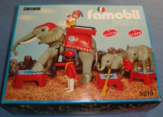 Playmobil - 3519-fam - Circus Elephants & Trainers
