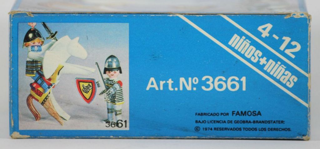 Playmobil 3661-fam - Color Medieval Knights - Box