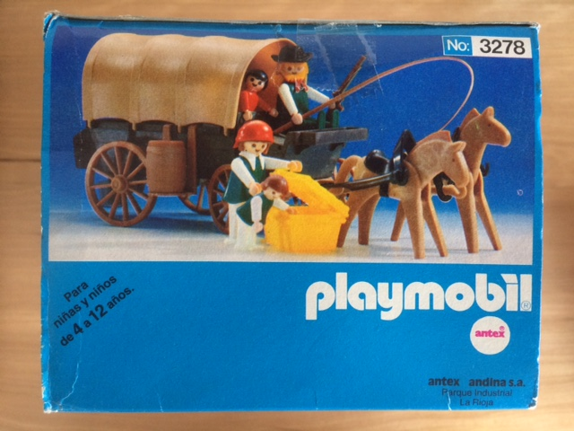Playmobil 3278-ant - Settlers & covered wagon - Box