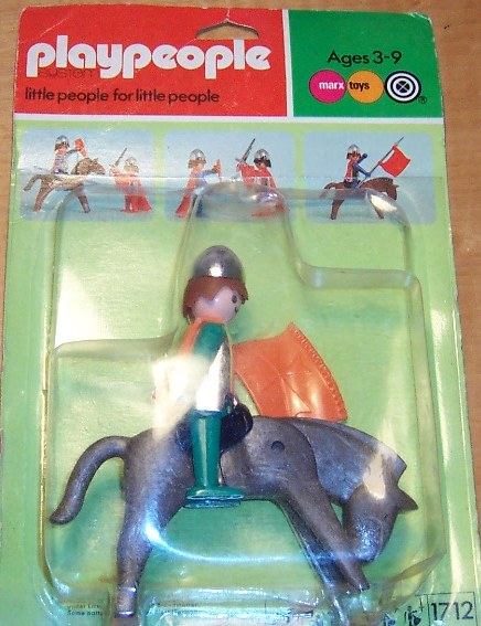 Playmobil 1713v2-pla - Green Knight with horse - Box