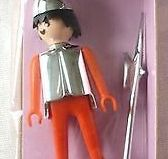 Playmobil - 1714v2-pla - Red knight with halberd