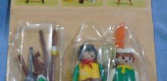 Playmobil - 1732v2-pla - Yellow cowboy & green Indian