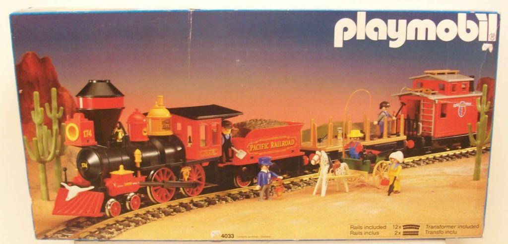 Playmobil set 4033v1 usa large western train set - Train playmobil ...