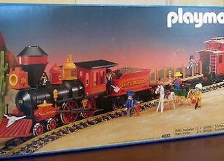 Playmobil - 4033v2-usa - Large Western Train Set