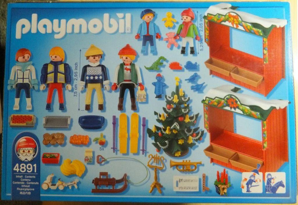 Playmobil 4891-usa - Christmas Market - Box