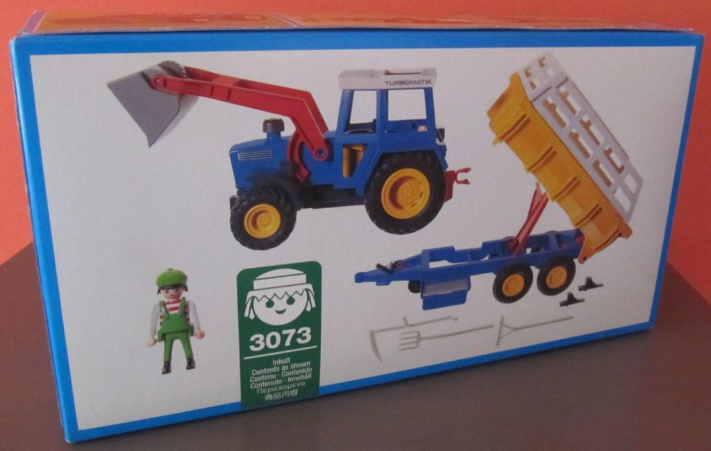 Playmobil 3073 - Tractor with Hay Trailer - Back