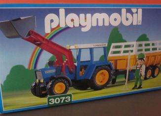 Playmobil - 3073 - Tractor with Hay Trailer