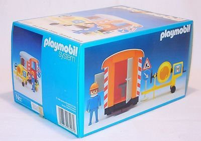 Playmobil 3207s1v3 - Construction Trailer and Cement Mixer - Box