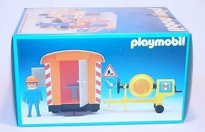 Playmobil 3207s1v3 - Construction Trailer and Cement Mixer - Back