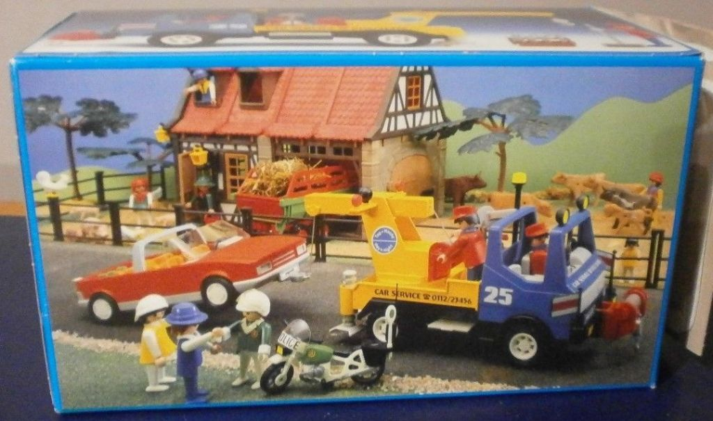 Playmobil 3453v2 - Blue/Yellow Tow Truck - Box