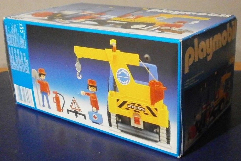 Playmobil 3453v2 - Blue/Yellow Tow Truck - Back