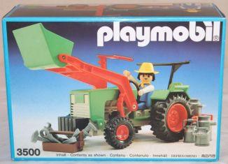 Playmobil - 3500v5 - Green Tractor & Farmer