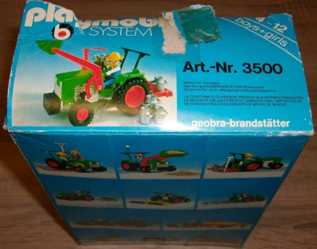 Playmobil 3500v2 - Green Tractor & Farmer - Box