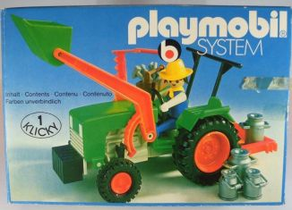 Playmobil - 3500v2 - Green Tractor & Farmer