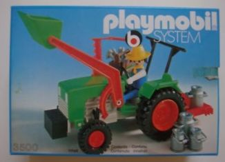 Playmobil - 3500v3 - Green Tractor & Farmer