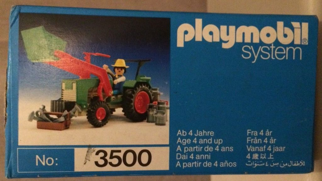 Playmobil 3500v4 - Green Tractor & Farmer - Box