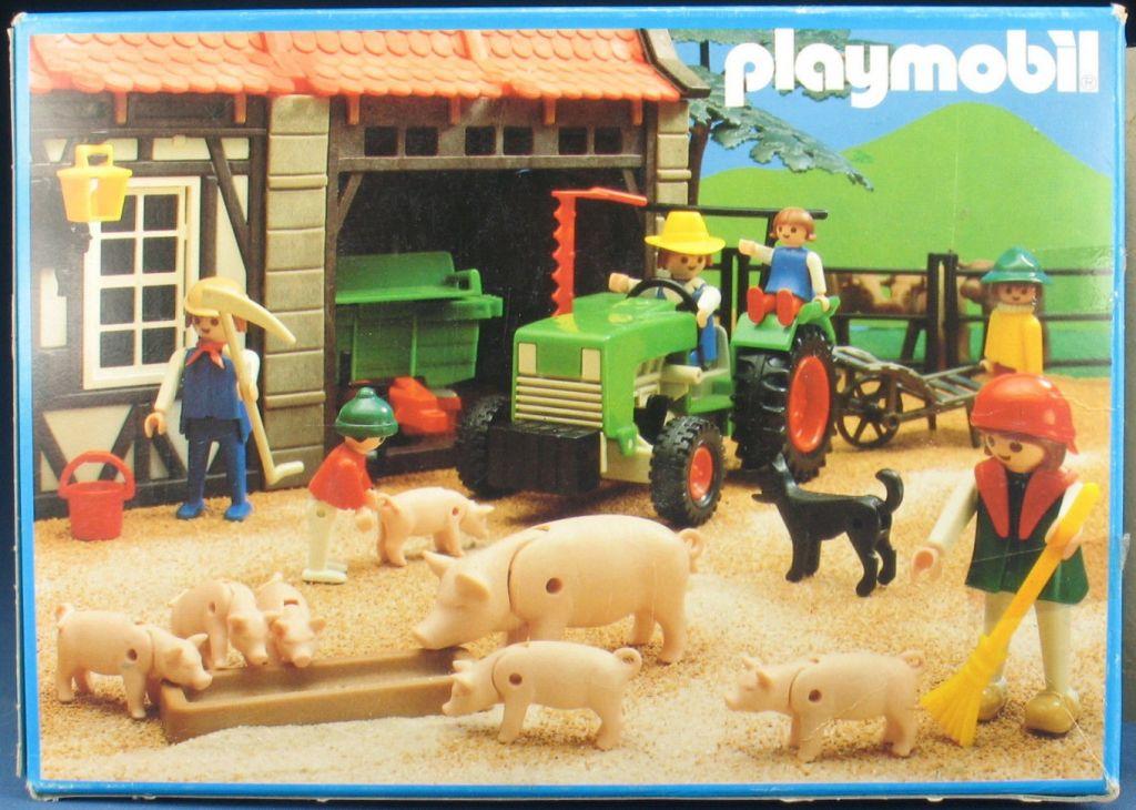 Playmobil 3500v4 - Green Tractor & Farmer - Back