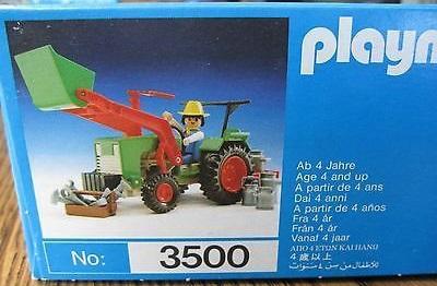Playmobil 3500v5 - Green Tractor & Farmer - Box