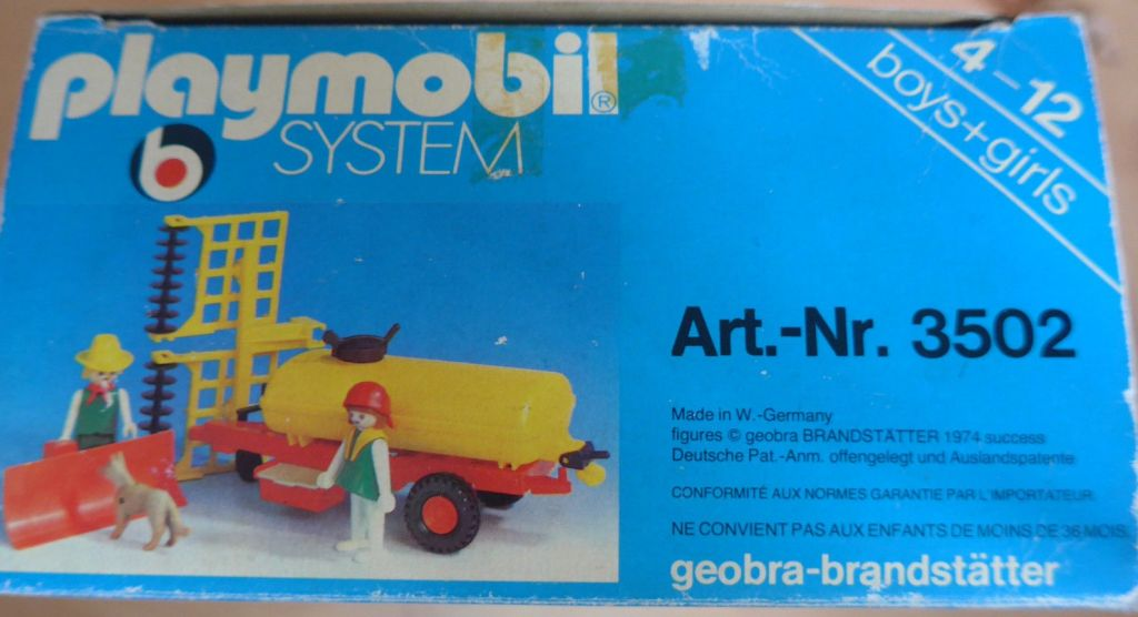 Playmobil 3502v1 - Tank trailer and Thresher - Box