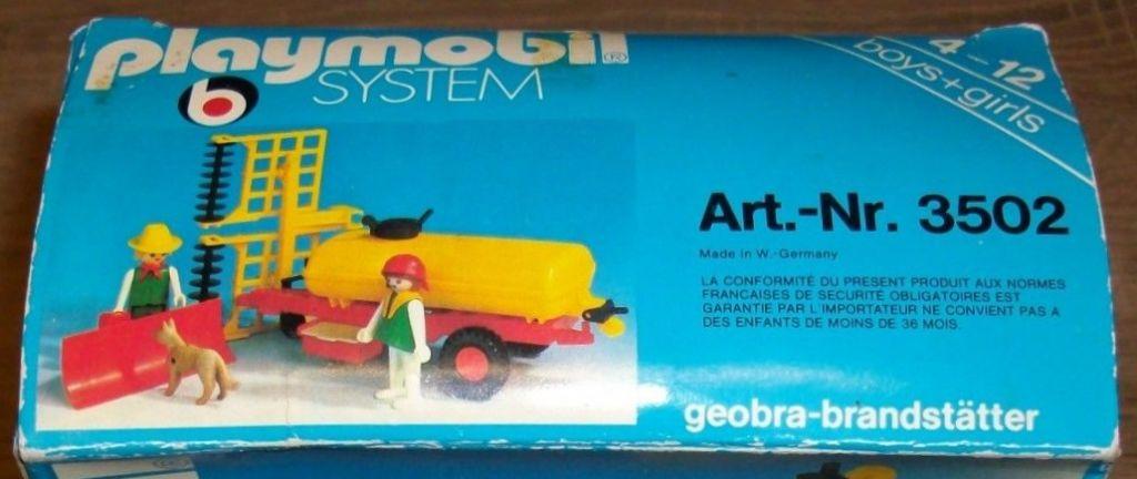 Playmobil 3502v2 - Tank trailer and Thresher - Back