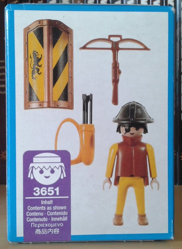 Playmobil 3651 - Foot Soldier - Back