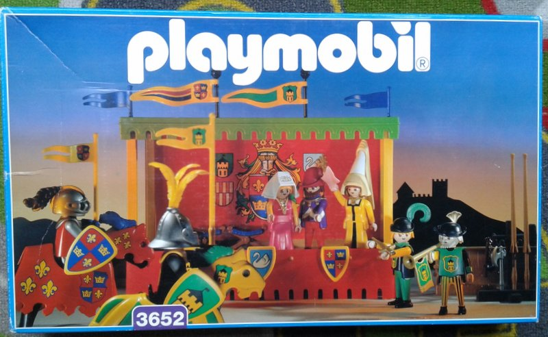 Playmobil 3652 - Tournament Knights With Viewing Stand - Box