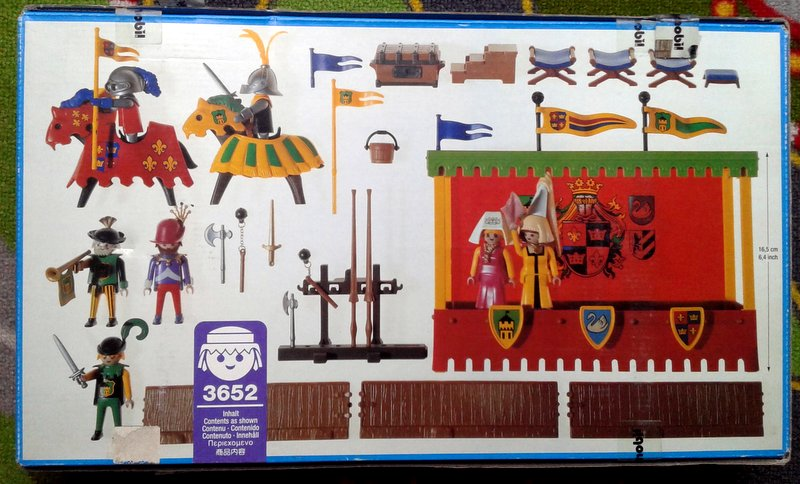 Playmobil 3652 - Tournament Knights With Viewing Stand - Back