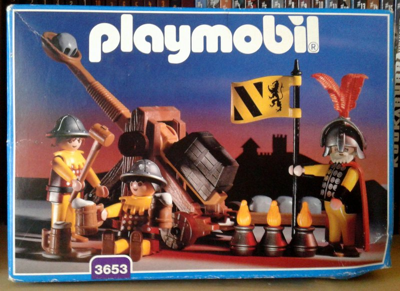 Playmobil 3653 - Lion Knights with Catapult - Box