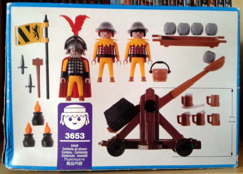 Playmobil 3653 - Lion Knights with Catapult - Back