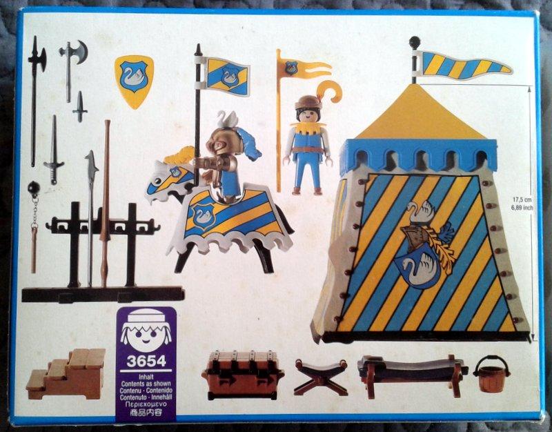 Playmobil 3654 - Knights Tournament Tent - Back