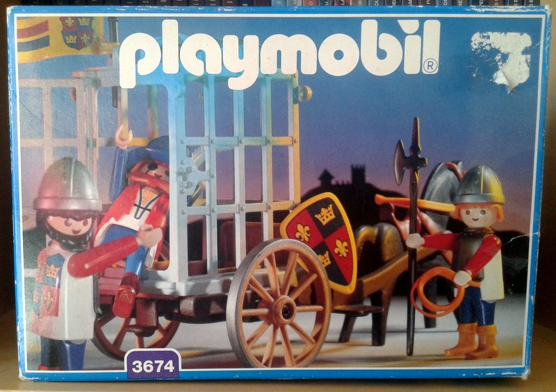 Playmobil 3674 - Knights Prison Cart - Box
