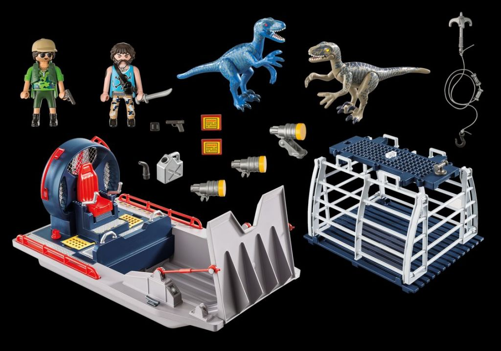 Playmobil 9433 - Enemy Airboat with Raptors - Back