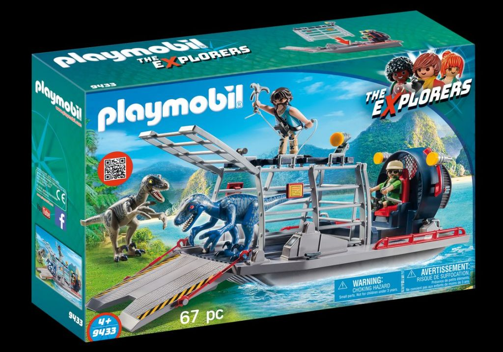Playmobil 9433 - Enemy Airboat with Raptors - Box