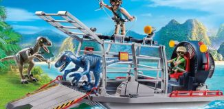Playmobil - 9433 - Enemy Airboat with Raptors