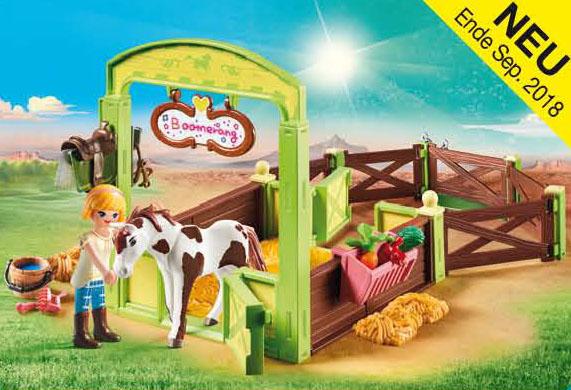 "Pferdebox /""Abigail /& Boomerang/"" 9480 Playmobil"