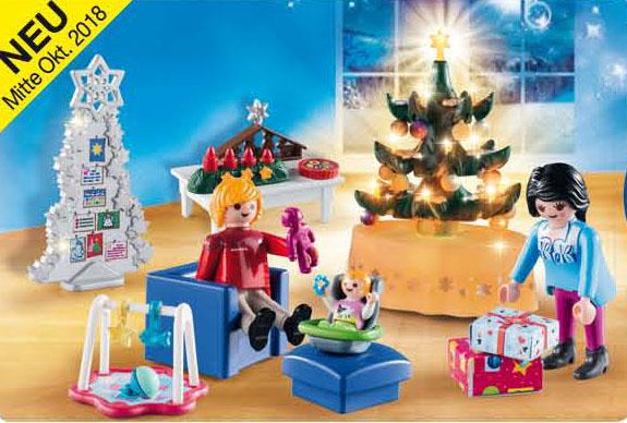Playmobil set 9495 christmas living room klickypedia for Wohnzimmer playmobil