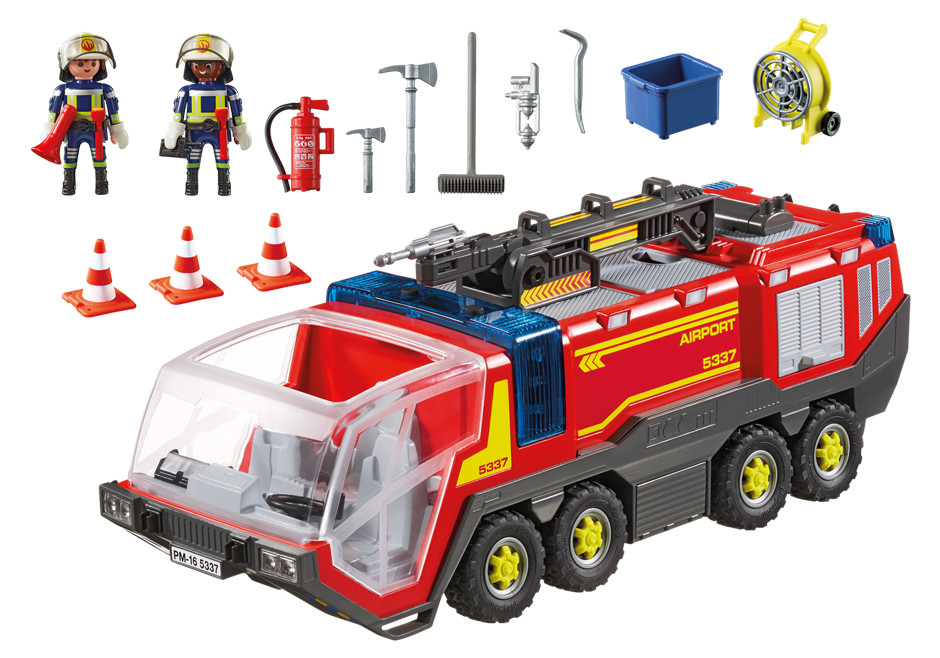 Playmobil 5337 - Crash tender  with light and sound - Back