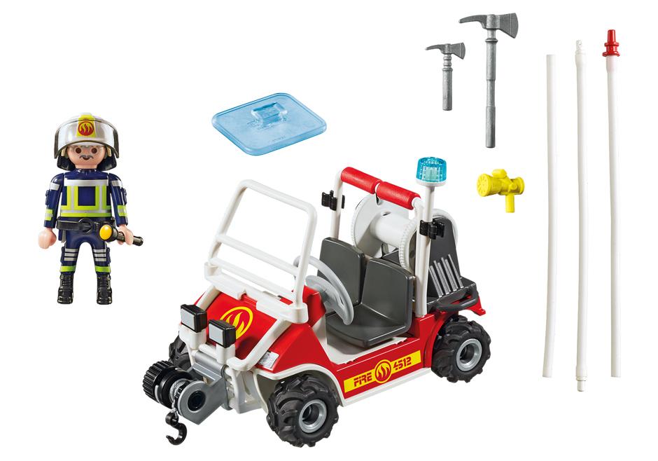 Playmobil 5398 - Firemen Kart - Back
