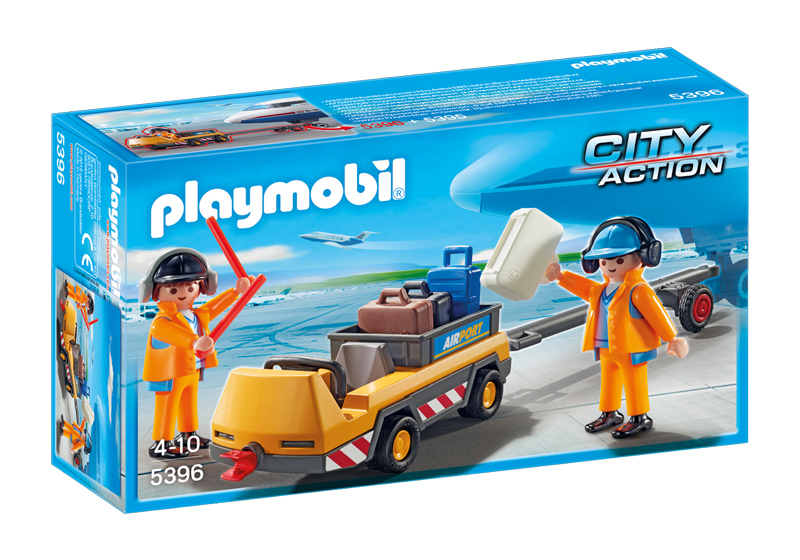 Playmobil 5396 - Aircraft tractors with air traffic controllers - Box