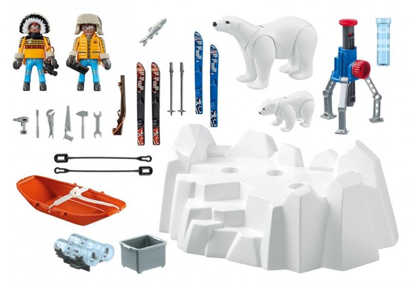 Playmobil 9056 - Arctic Explorers with Polar Bears - Back