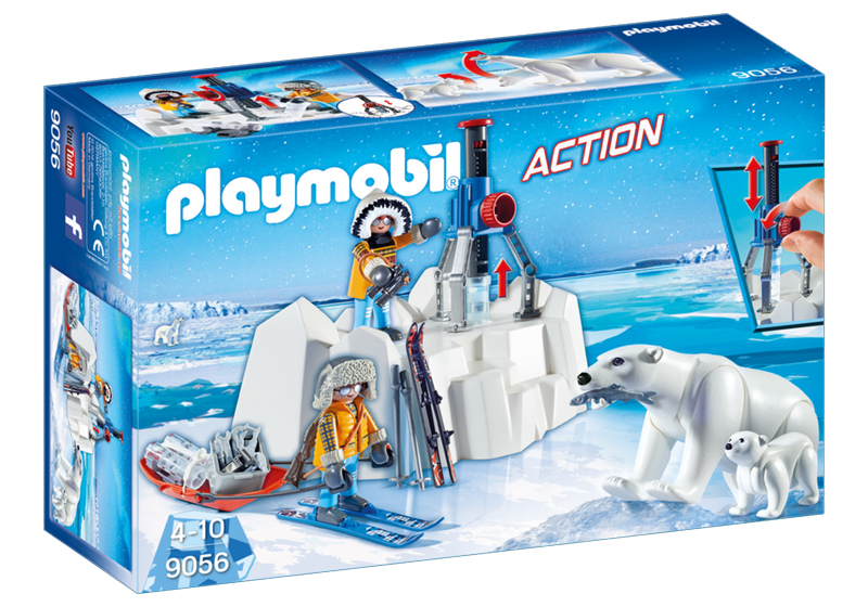 Playmobil 9056 - Arctic Explorers with Polar Bears - Box