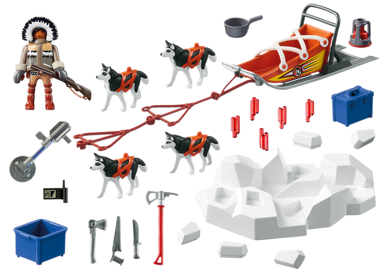 Playmobil 9057 - Husky-Drawn Sled - Back