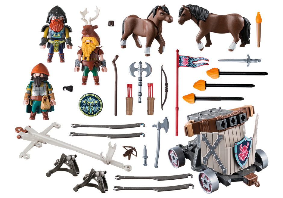 Playmobil 9341 - Pony Harness with Dwarf Ballista - Back